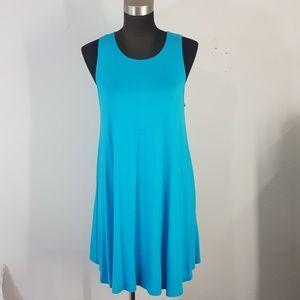 Azules Turquoise Tunic Dress Size Small